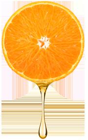 Orange Tropfen
